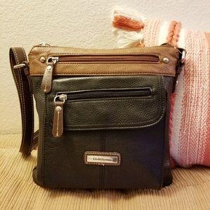 Croft&Barrow leather crossbody shoulder bag